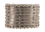 $7.00 Napkin Ring - Mesh Nickel