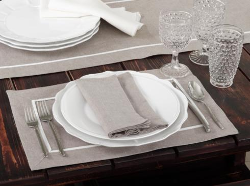 $6.50 Placemat - Pleated - Natural
