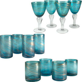 $13.00 Goblet Shimmer - Turquoise