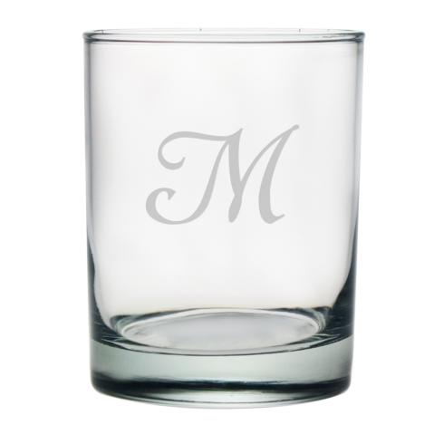 $60.00 Double Old Fashioned Glass w/monogram