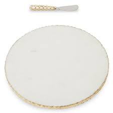 $38.50 Marble Cheese Board/Gold edge