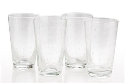 $18.00 Highball Glass Raindrop Clear
