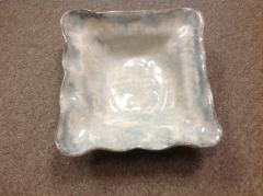 $75.00 Bowl Sq Medium Opal Gray