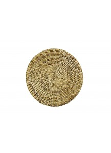 $15.00 Placemat - Round Water Hycinth