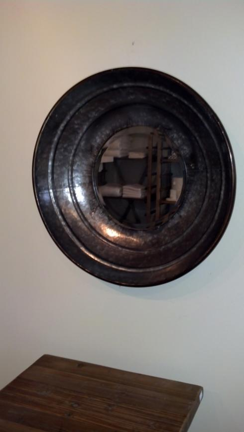 $75.00 Galvanized Round Mirror Small