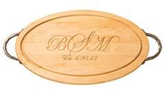 $170.00 Maple Cutting Board Monogrammed