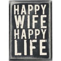 $16.95 Happy Wife Box Sign