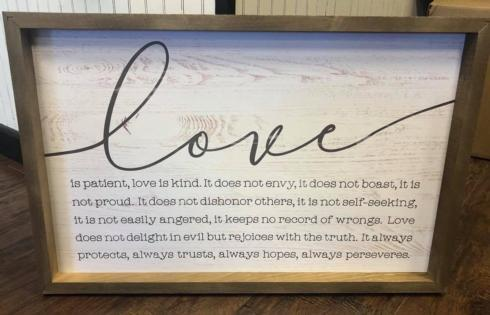 $49.99 Love - Large Sign