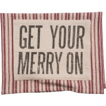 $16.95 Get Your Merry On Dish Towel