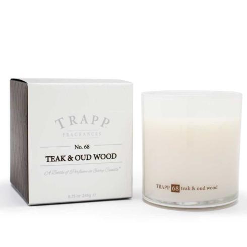 $33.00 Teak & Oad Wood Large Candle
