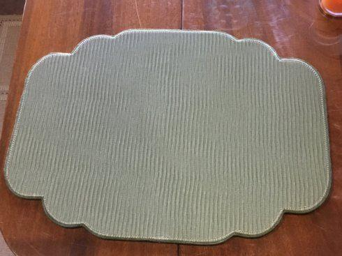$40.00 Strata Olive Cartouche Shaped Placemat