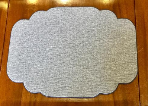 $40.00 Donegal Blue Cartouche Shaped Placemat