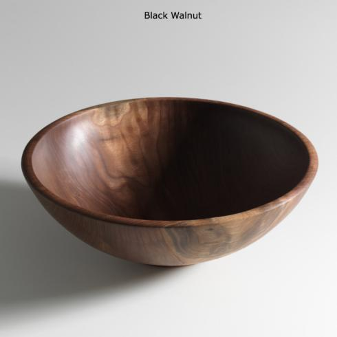 "$395.00 Champlain 17"" Black Walnut Salad Bowl"