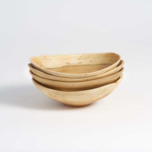 "$139.00 Echo Bowls 7"" set of 4 Cherry Wood"