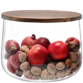 $145.00 City Bowl with Walnut Lid 12.5""
