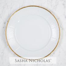 $54.00 Gold Weave Dinner Plate