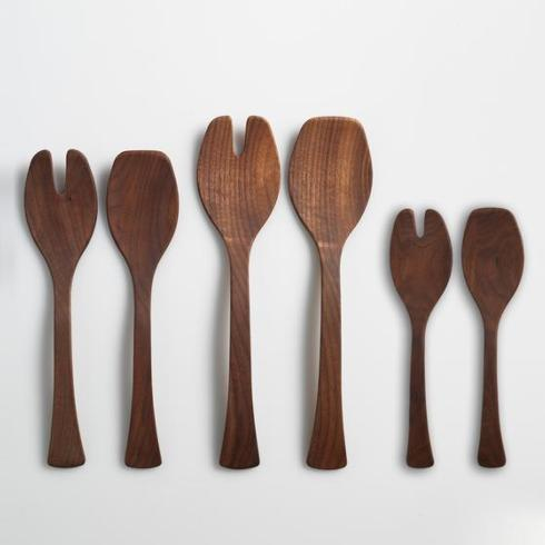 "$65.00 15"" Black Walnut Salad Servers"