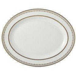 "$440.00 SOLEIL LEVANT Oval Platter 15"":"