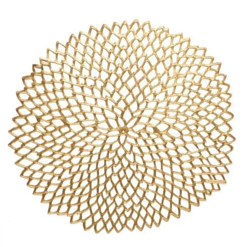 $10.00 Dahlia Placemat - Brass