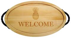 $156.00 18 x 12 oval cutting board with handle