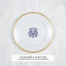 $64.00 Gold Weave Salad Plate with Monogram