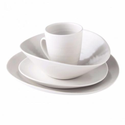 $155.00 Barre Alabaster 4 Piece Place Setting w/Pasta Bowl
