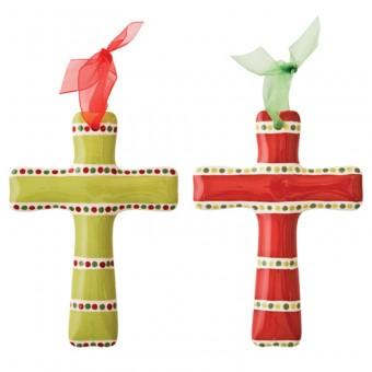 $22.00 Cross Ornament (set of 2)