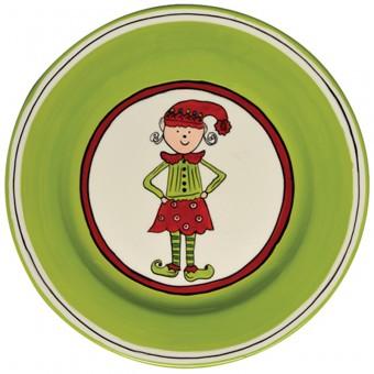 $25.00 Girl Elf Salad Plate