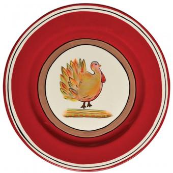 $76.00 Turkey Salad Plates, Set of 4