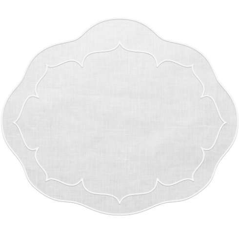 $25.00 Oval Linen Placemat
