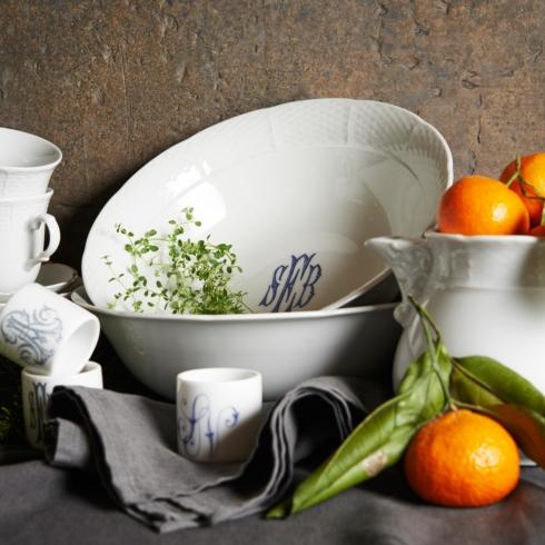 $132.00 Weave Monogrammed Large Serving Bowl with Monogram