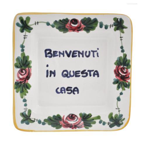 "$25.00 Square 5"" x 5"" -Benvenuti a Questa Casa - Welcome to this Home"