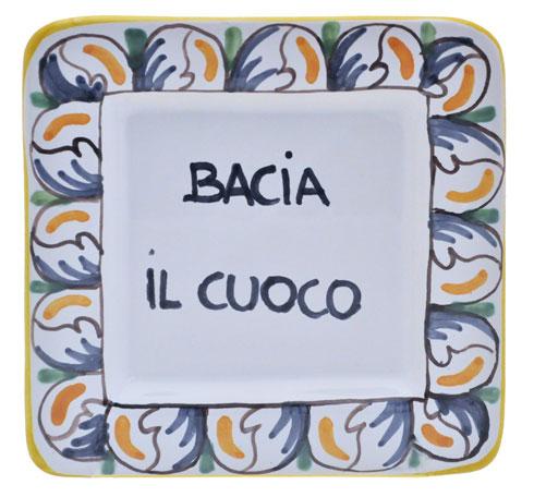 """$25.00 Square 5"""" x 5"""" - Bacia Il Cuoco - Kiss the Cook"""