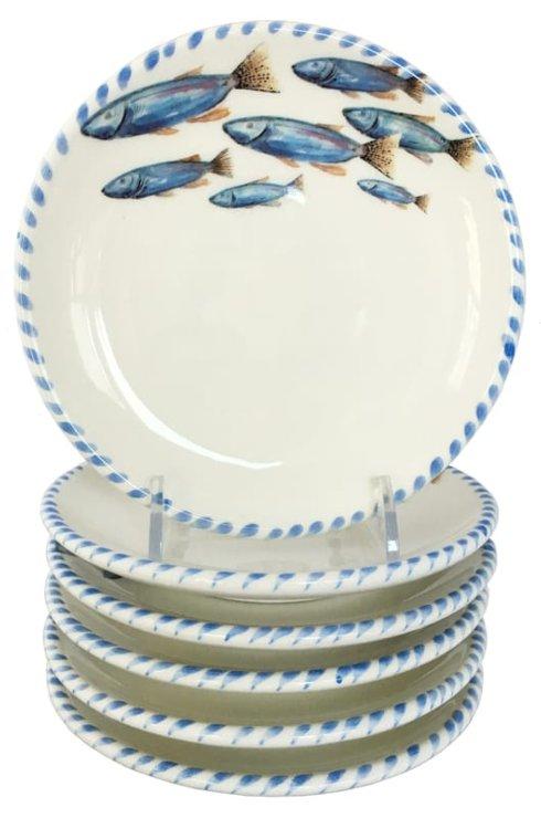 """$120.00 Lake Fish Small Plates 5 3/4""""d  (set of 6)"""