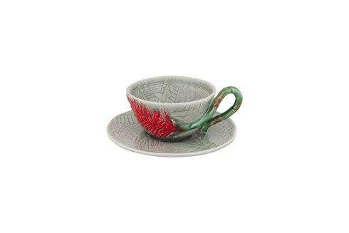 $39.00 Tea Cup And Saucer Red Ginger