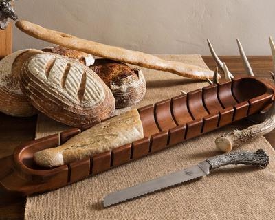 $85.00 Baguette Board w/ Pewter Knife