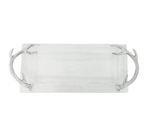 $79.00 Glass Oblong Tray