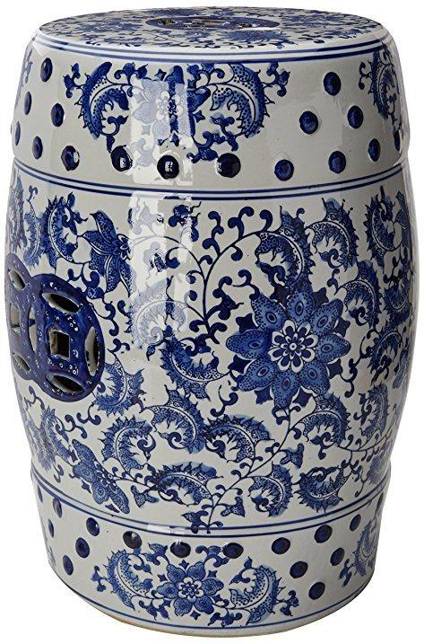 $375.00 Blue and White Garden Stool