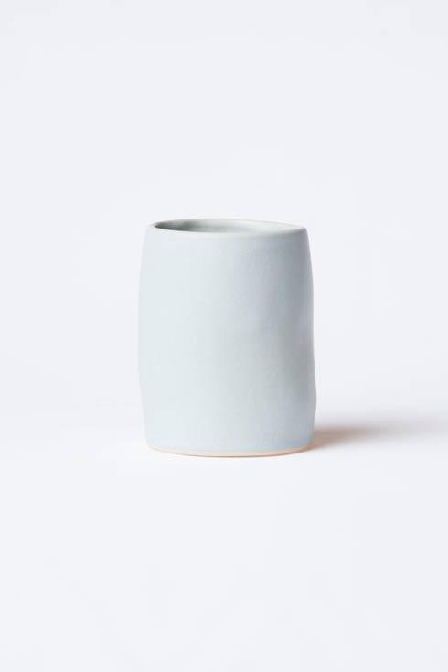 $78.00 Blue Matte Round Vase