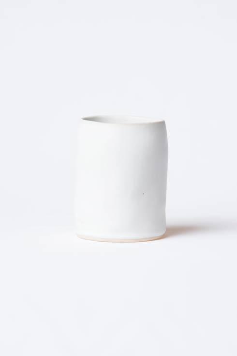 $78.00 White Matte Round Vase
