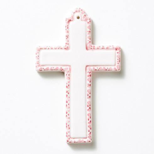 $30.00 Pink Ceramic Cross Ornament