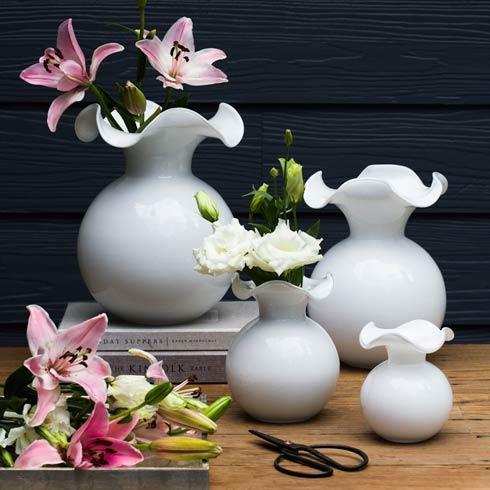 $108.00 White Medium Fluted Vase