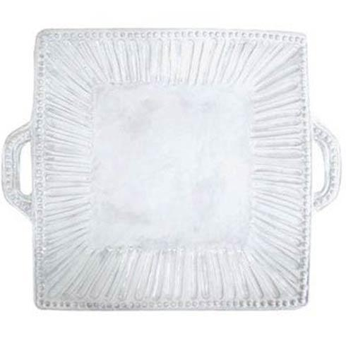$156.00 Stripe Square Handled Platter