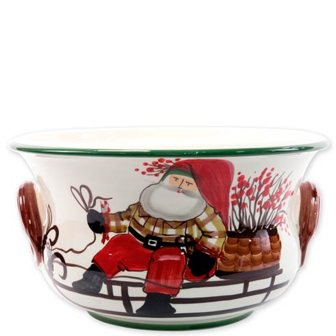 $284.00 Footed Round Cachepot with Sleigh