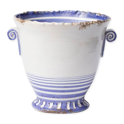 $212.00 Blue Striped Medium Flair Cachepot