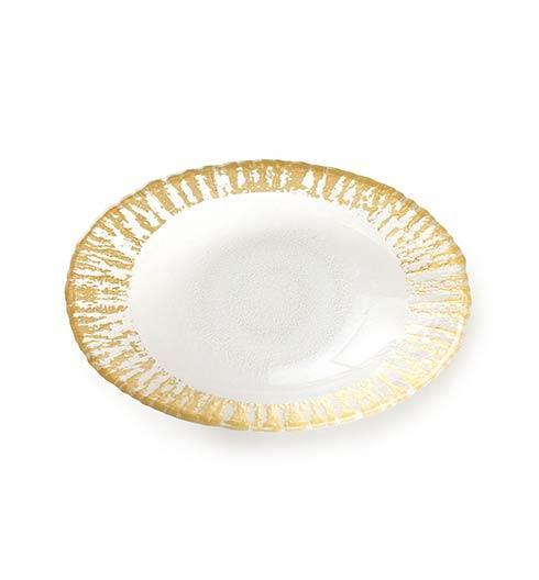 $50.00 Gold Medium Oval Serving Bowl