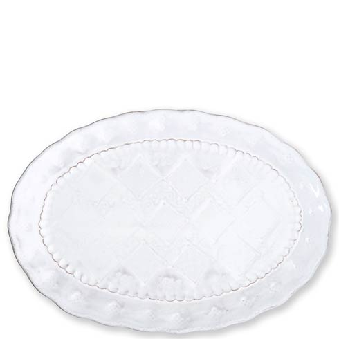 $120.00 White Medium Oval Platter