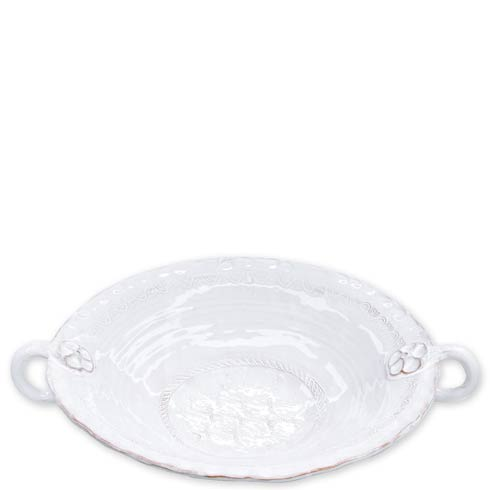 $188.00 White Large Handled Serving Bowl