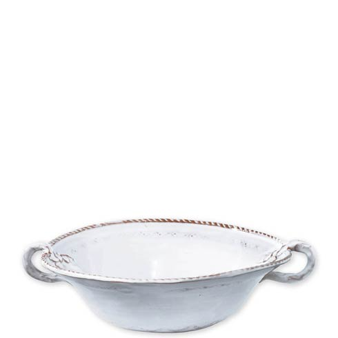 $100.00 White Medium Handled Serving Bowl
