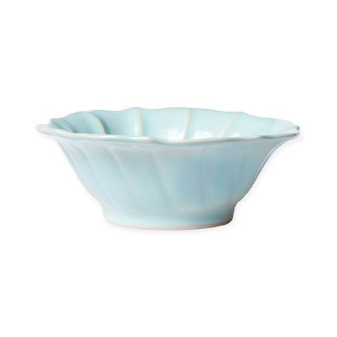 $44.00 Aqua Ruffle Cereal Bowl
